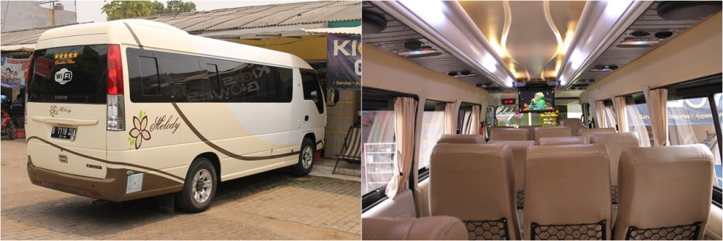 sewa mobil minibus isuzu elf long murah di jakarta bekasi depok elf terbaru