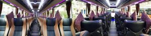 interior bus pariwisata melody transport 45seat
