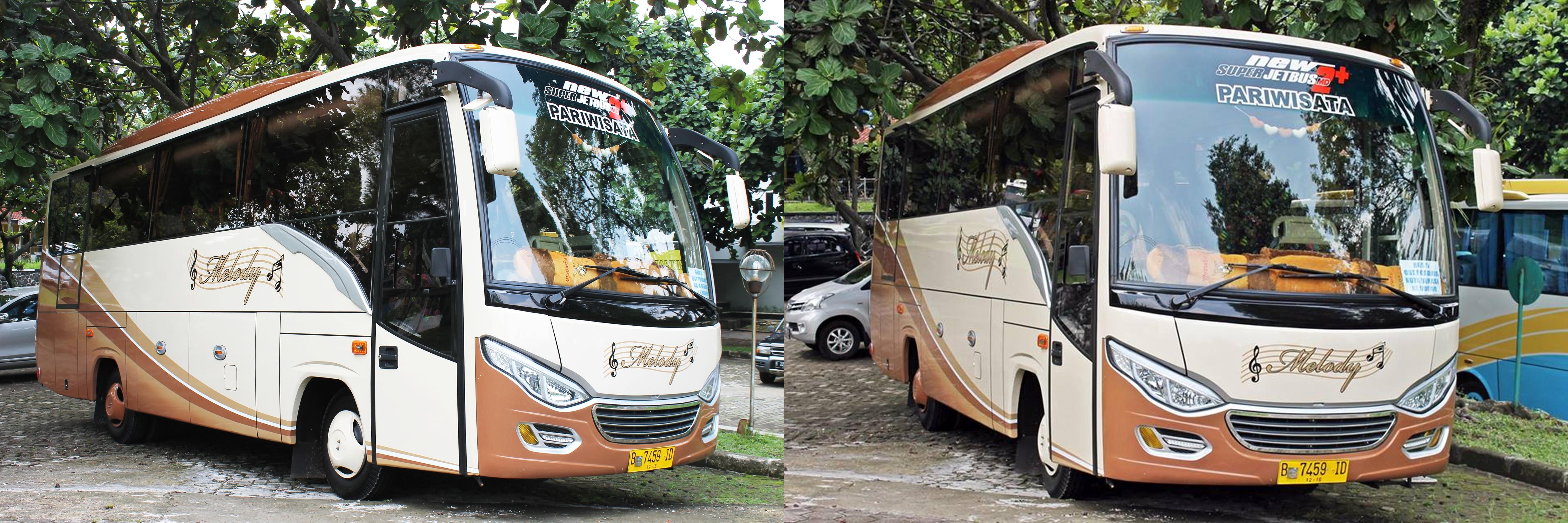 sewa bus pariwisata murah di jakarta depok tangerang bekasi medium bus bis