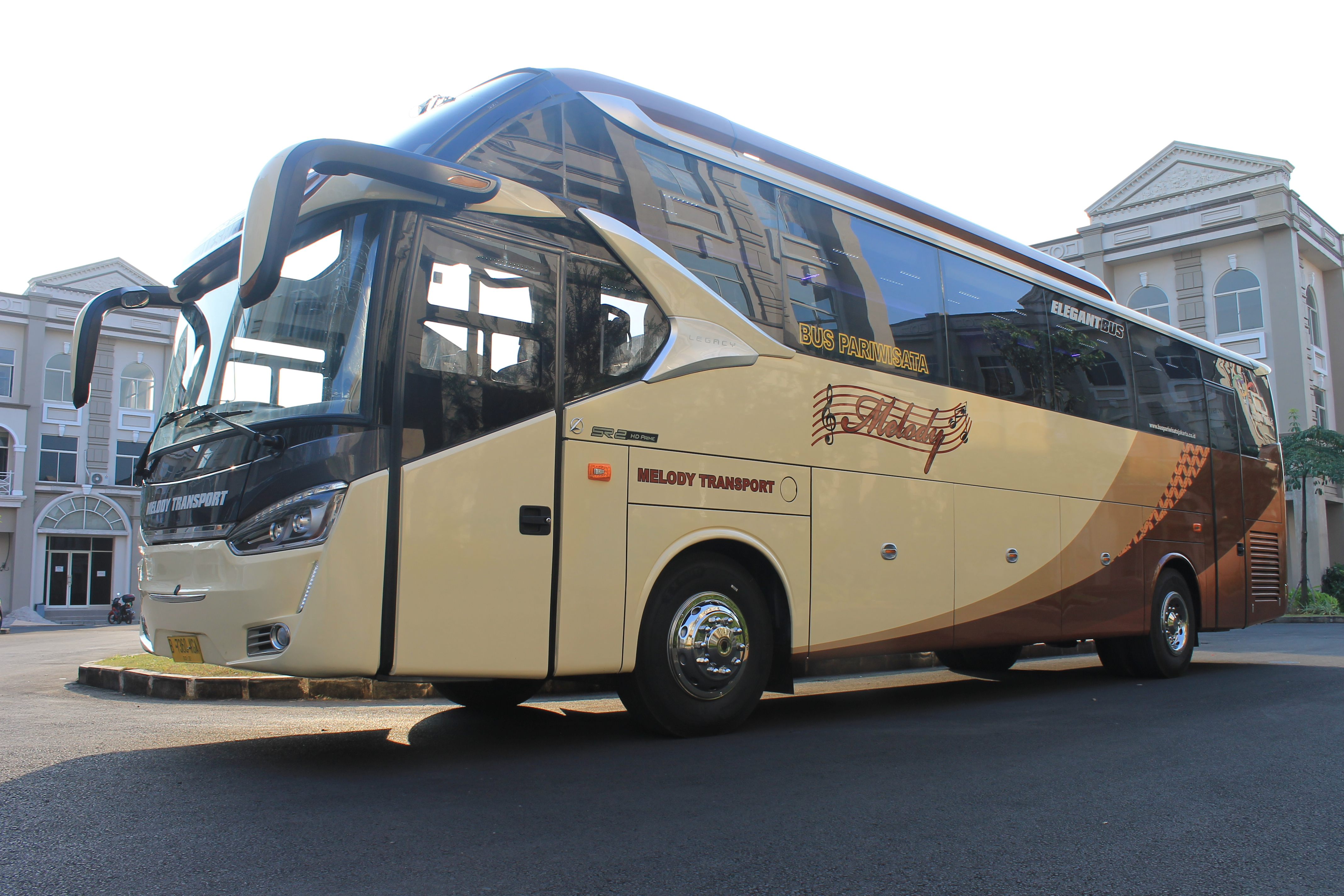 pusat sewa bus pariwisata termurah di jakarta bekasi depok tangerang Melody Transport
