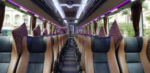 interior bus pariwisata melody transport
