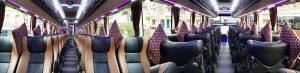 interior bus pariwisata melody transport 45seat